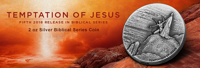 Temptation of Jesus Silver Coin