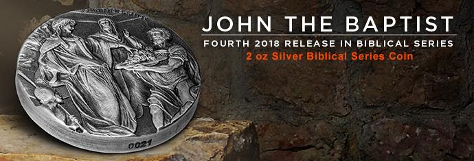 John the Baptist - 2 oz Silver biblical series coin