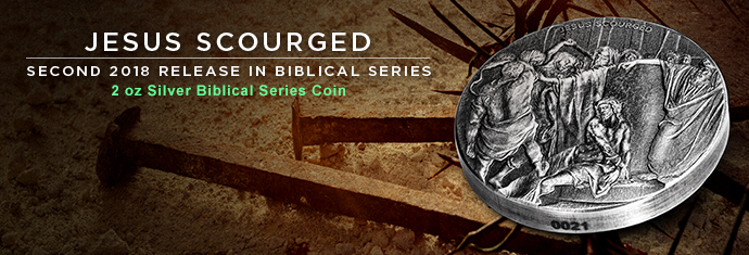 Jesus Scourged 2 Ounce Silver Coin