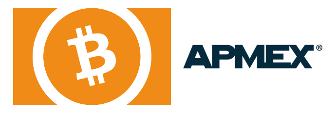 BitCoin and APMEX Logos
