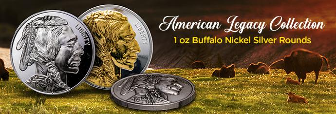 1 oz Buffalo Nickel Silver Rounds