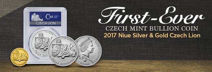 2017 Niue Silver & Gold Czech Lions