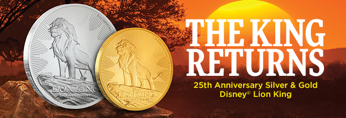 2019 Gold and Silver Lion King Coins