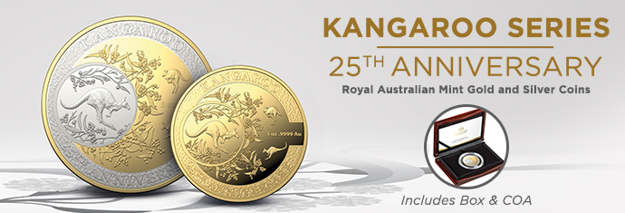 Royal Australian Mint Gold and Silver Kangaroos