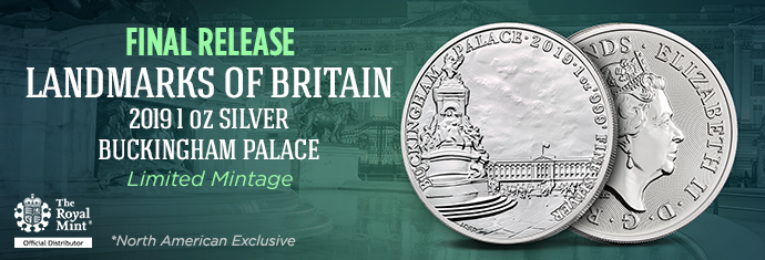 Landmarks of Britain: 2019 1 oz Silver Buckingham Palace
