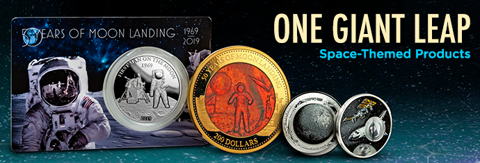 50th Anniversary Moon Landing Coins
