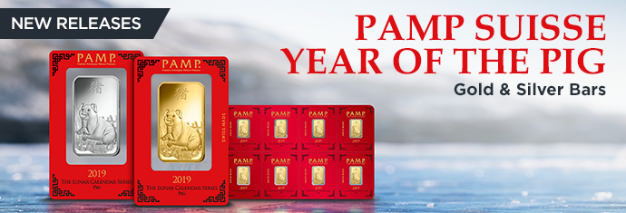 PAMP Suisse Lunar Pig Gold and Silver Bars