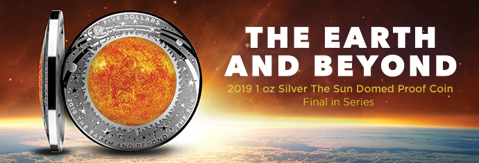 2019 1 oz Silver The Sun Domed Proof coin