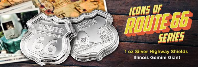 1 Ounce Silver Illinois Gemini Giant