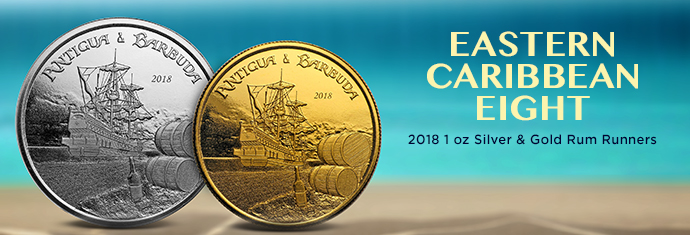 2018 1 Ounce Silver and Gold Rum Runners Coins