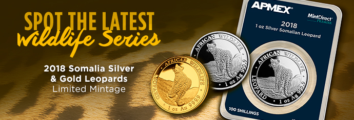 2018 Gold and Silver Leopard Coin