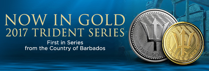 2017 Gold and Silver Barbados Tridents