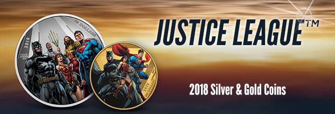 Justice League 2018 Gold & Silver Coins