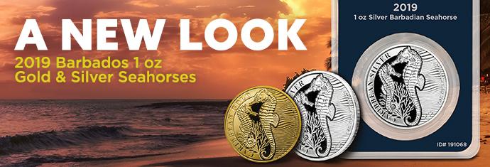 2019 Barbados Seahorse Coins at APMEX