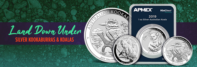 Silver Kookaburras and Silver Koalas