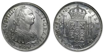 1805 Spanish 8 Reales Coin