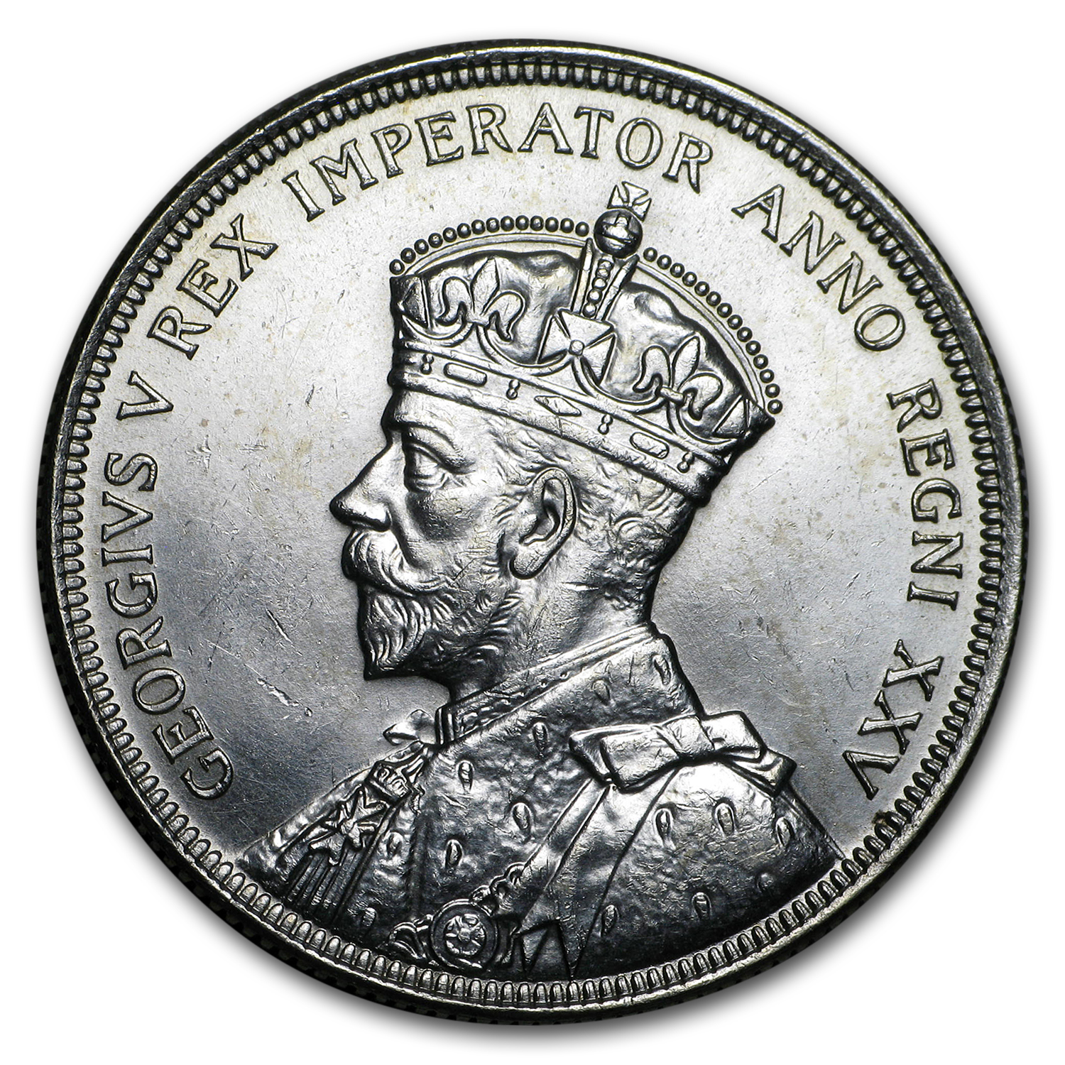The Obverse of the 1935 Canadian Silver Dollar