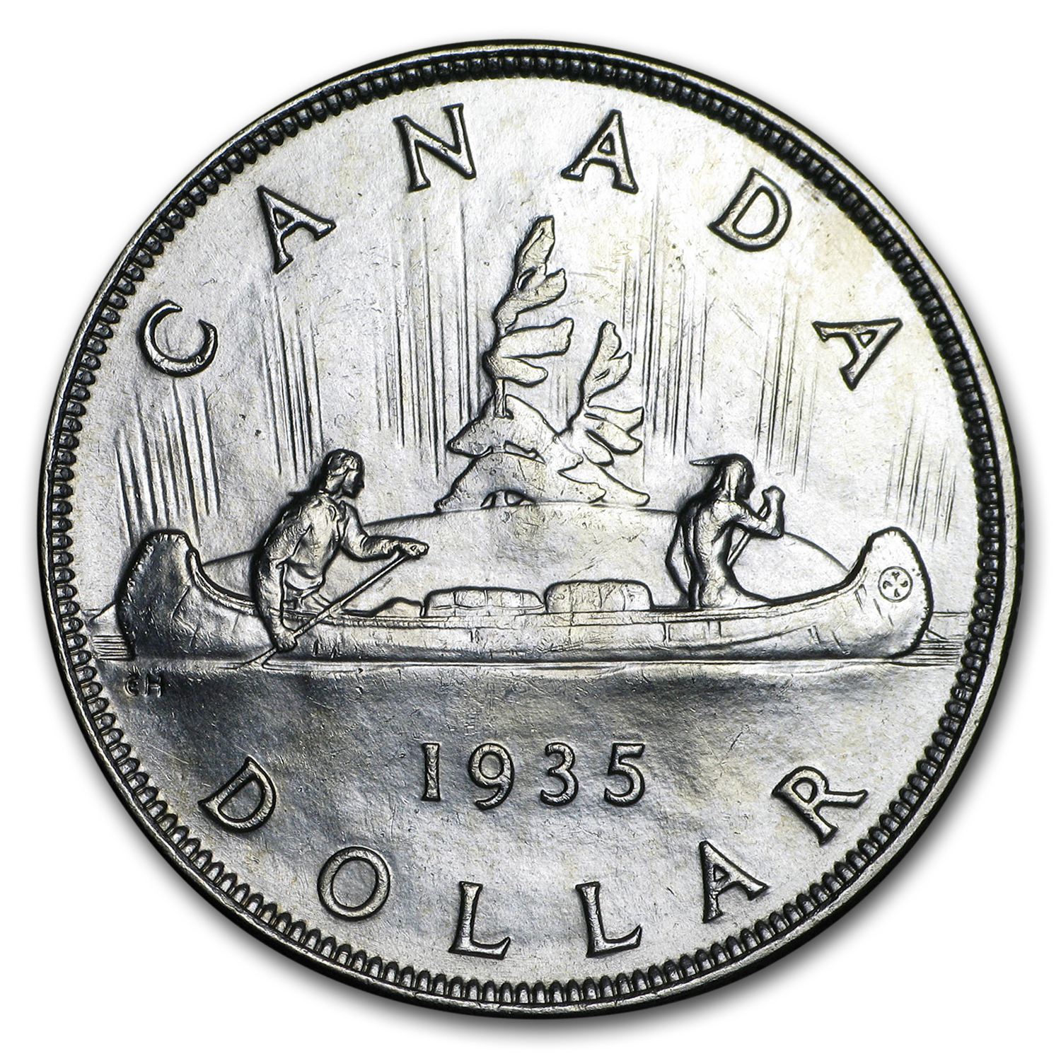 The Reverse of the 1935 Canadian Silver Dollar