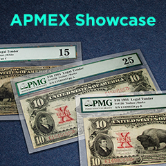 APMEX Showcase: 1901 $10 Bison Note PMG