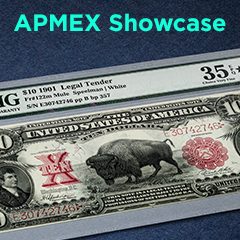 APMEX Showcase: Series of 1901 $10 Legal Tender Bison Note