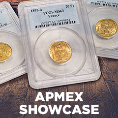 APMEX Showcase: French Gold 20 Francs Lucky Angel PCGS