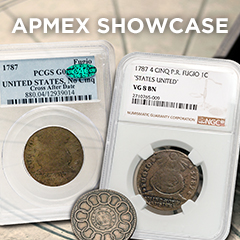 APMEX Showcase: 1787 Fugio Cents