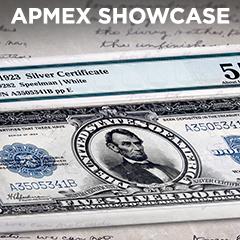 APMEX Showcase: 1923 $5 Silver Certificate Lincoln Porthole