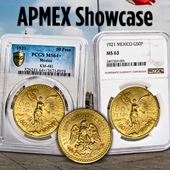 APMEX Showcase: 1921 Mexican Gold 50 Pesos