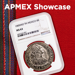APMEX Showcase: 1805 Mexican 8 Reales
