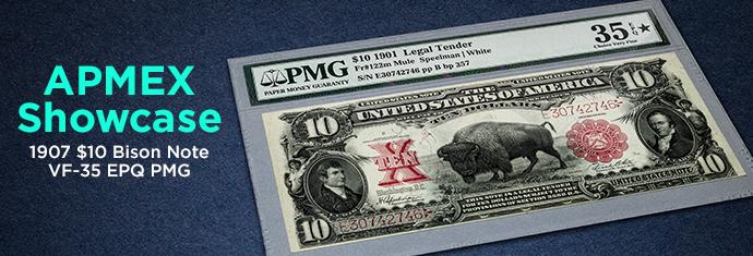 1901 $10 Legal Tender Bison Note