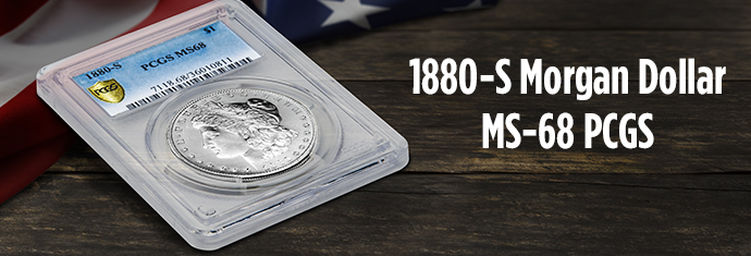 1880-S Morgan Dollar MS-68