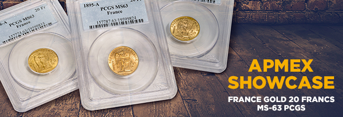 French Gold 20 Francs PCGS