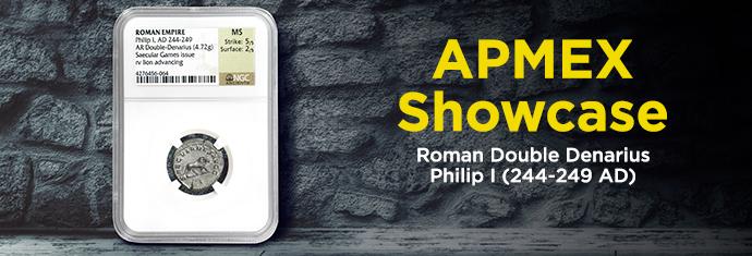 Roman Double Denarius Philip I
