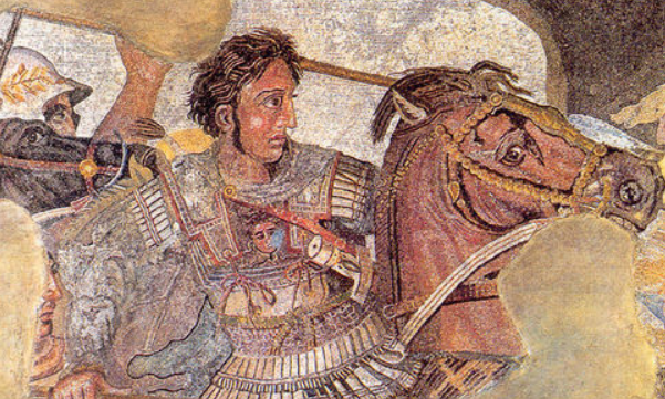Alexander the Great conquering the Armies of the Persian Empire