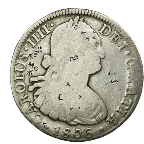 Chopmarked 8 Reales Coin