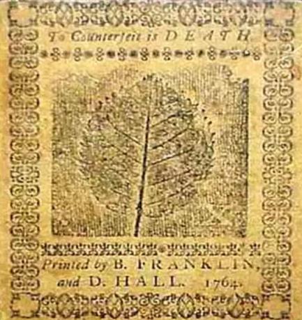 Benjamin franklin Printed Leaf