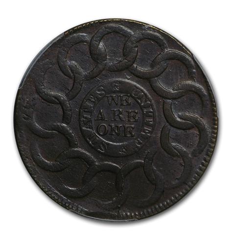 Fugio cent reverse