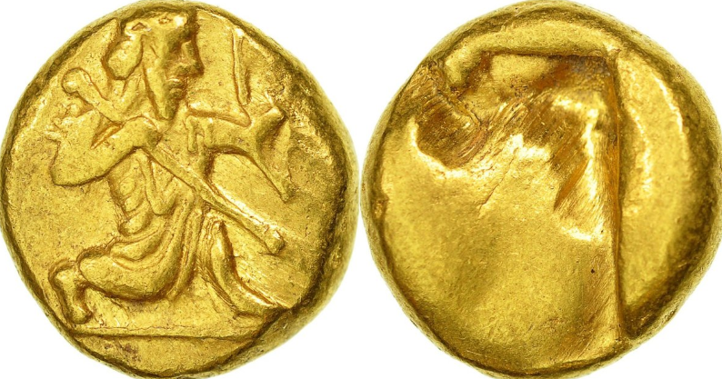 Gold Daric Coins of Persia, depicting King Darius I