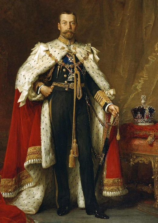 Official Portrait of King George V of Great Britain