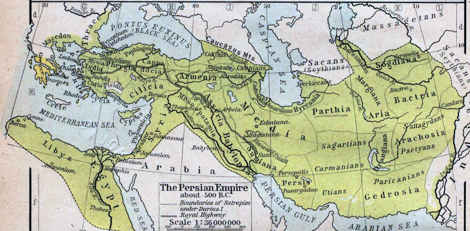 The Persian Empire around 500 B.C.