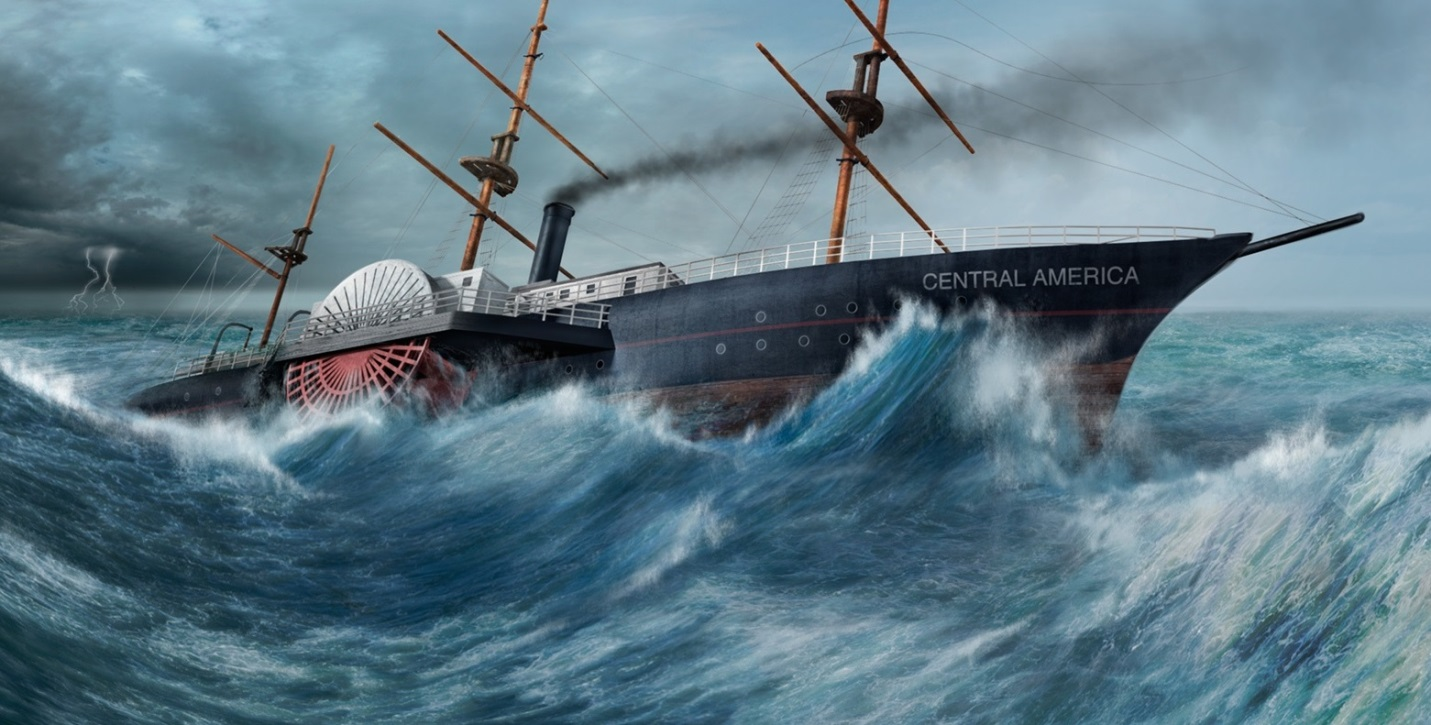 SS Central America in a hurricane