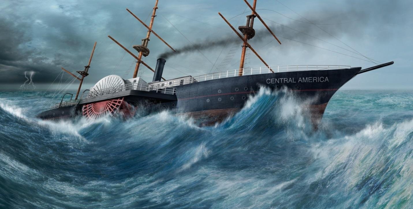 SS Trung Mỹ trong một cơn bão
