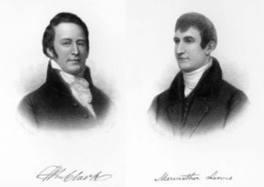 Portraits of William Clark and Meriwether Lewis