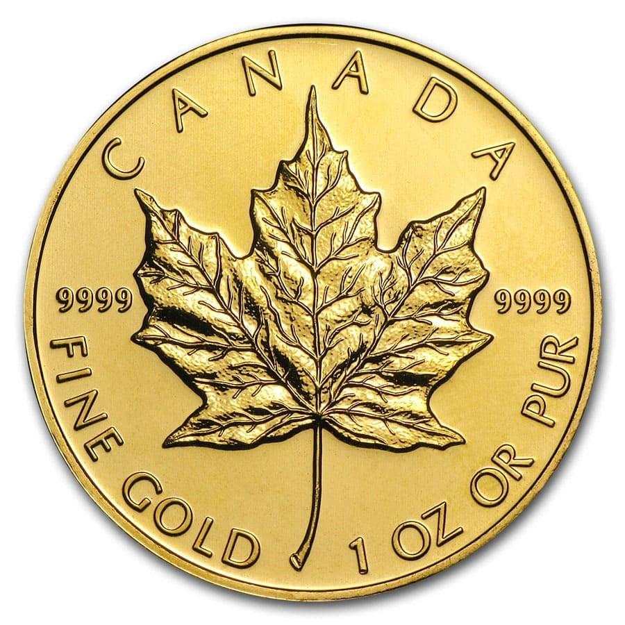 Canada 1 oz Gold Maple Leaf .9999 Fine (Random Year)