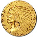 Indian $5 Gold Coin(1908-1929)