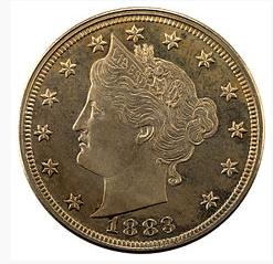 Liberty Head Nickel of 1883