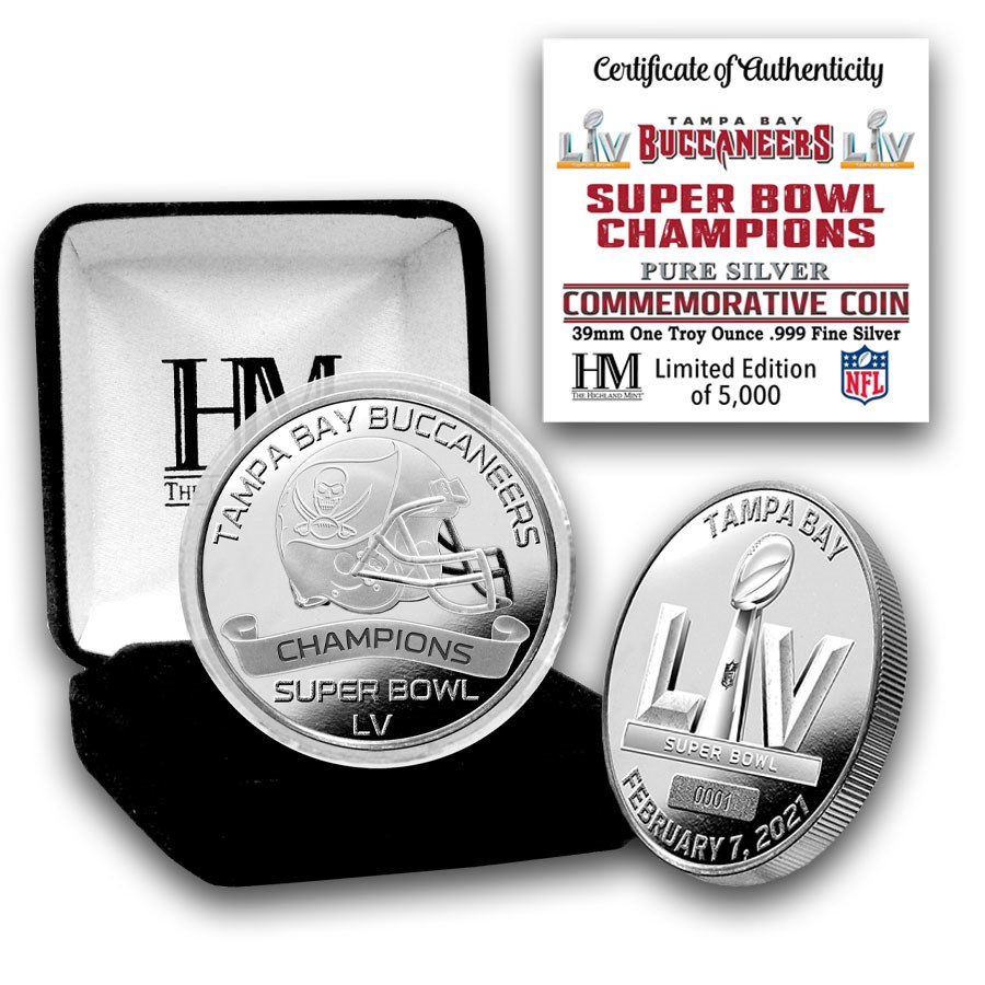 Super Bowl LV 1 oz Silver Champion Coin - Tampa Bay Buccaneers