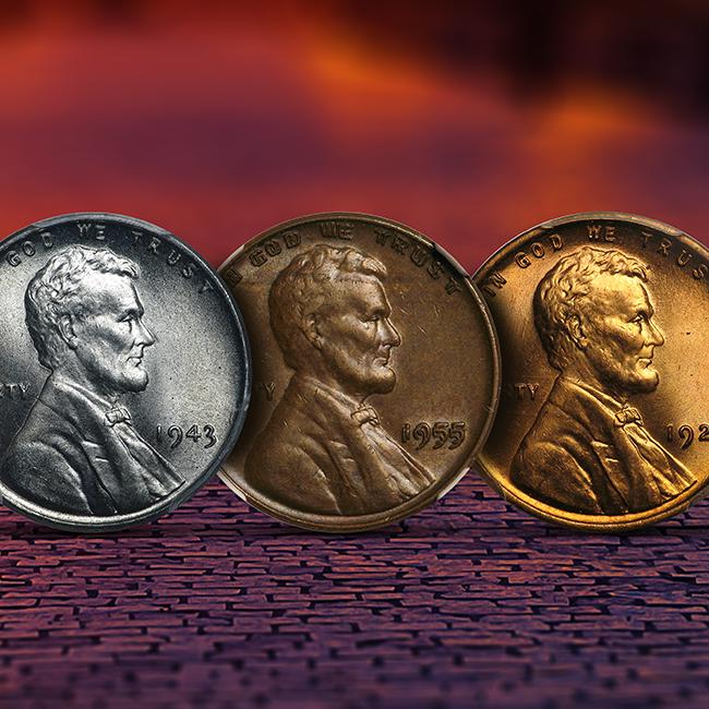 Progression of Lincoln Cents