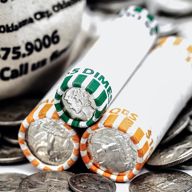 Rolls of Silver Dimes