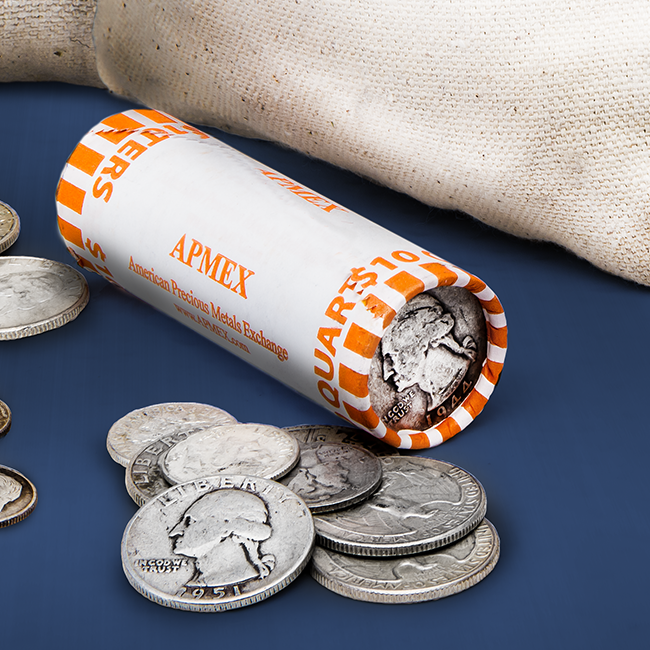 Rolls of Silver Quarters